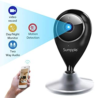 Sumpple Home Camera Baby Monitor & 720p Indoor Wireless IP Security Surveillance System with Night Vision for Home/Office/Baby/Pet Monitor with iOS & Android App