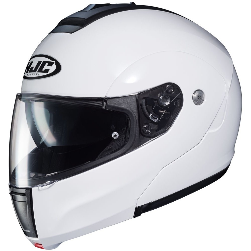 Large White HJC Solid Mens CL-MAX 3 Modular Street Motorcycle Helmet
