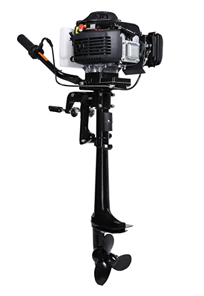 Small Outboard Motors >> Amazon Com Leadallway 4hp Outboard Motor Four Stroke Air Cooled