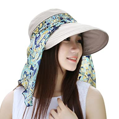 2f9a077d35411 Women Ladies Holiday Visor Hat Piebo Fedoras Trilby Hats Women Panama Hats  Straw Beach Sun Summer Wide Brim Cap (Beige)  Amazon.co.uk  Clothing