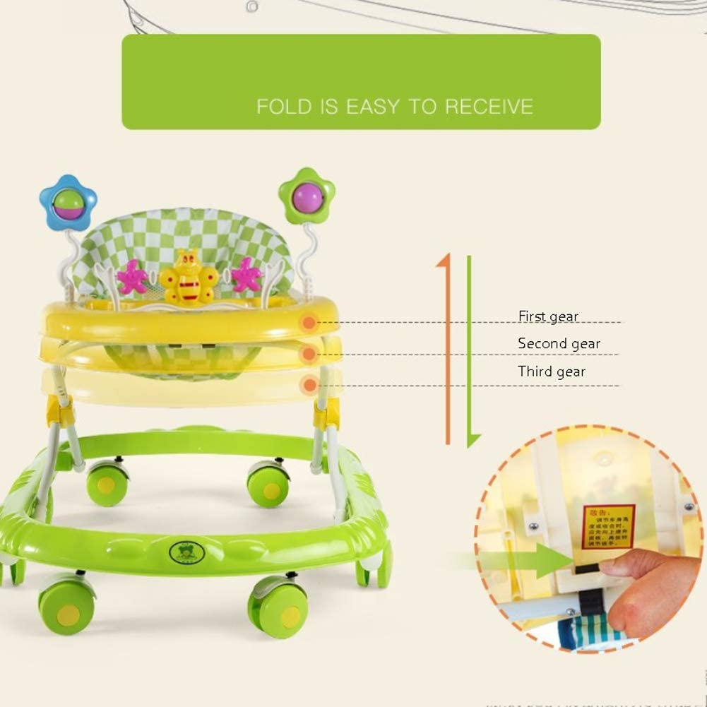 Baby Walker Anti-Rollover Multi-Function with Music Baby Walker Suitable for Boys and Girls,Pink