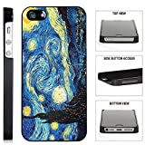 [TeleSkins] - Vincent Van Gogh The Starry Night - iPhone SE / 5 / 5S Black Plastic Case - Ultra Durable Slim & HARD PLASTIC Protective Vibrant Snap On Designer Back Case / Cover. [iPhone SE / 5 / 5S]