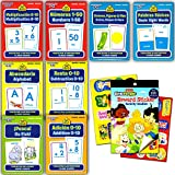 School Zone Spanish Flash Cards Super Set Toddler Kids -- 8 Bilingual Packs and Stickers (ABCs, Numbers, Colors, Shapes, Animals and More!)