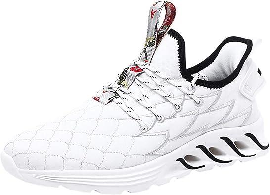 Zapatillas de Running para Hombre,JiaMeng Air Cushion Sneakers Mesh Zapatillas de Deporte Transpirables con Cordones Zapatillas Ligeras Transpirables Casual Zapatos: Amazon.es: Zapatos y complementos
