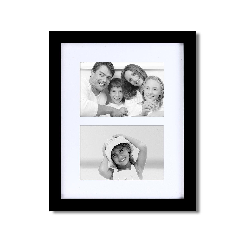 Amazon.de: FrameArmy 2 Öffnung rechteckig Stack Schwarz Holz Collage ...