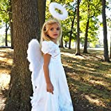 Zucker Angelique Feather Angel Wings - White