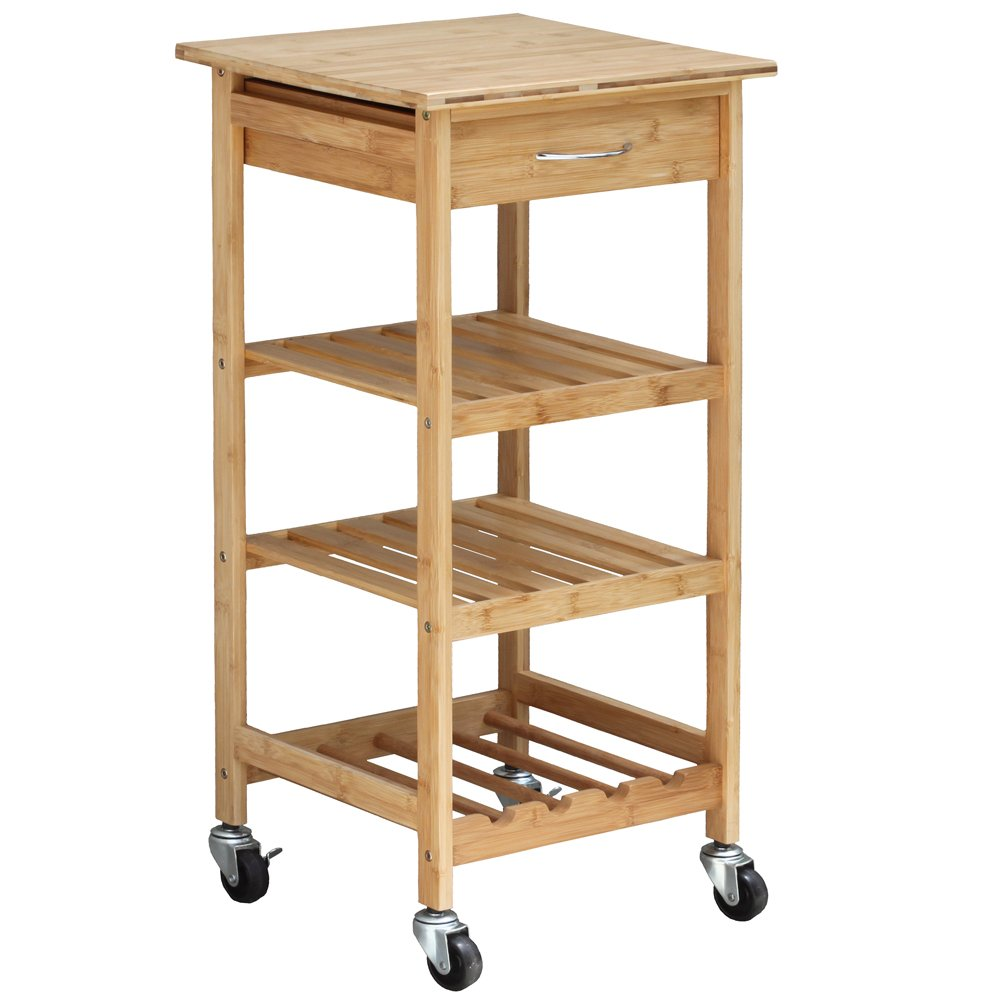 Oceanstar Design Group Bamboo Kitchen Trolley