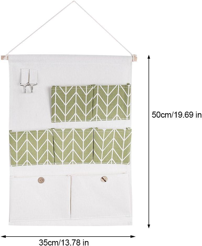 H/ängende Aufbewahrung Tasche mit 7/Taschen Baumwolle Leinen Wand T/ür zum Aufh/ängen von Kleidung Aufbewahrungsbeutel Organizer f/ür die Verwaltung Kleine Objekte