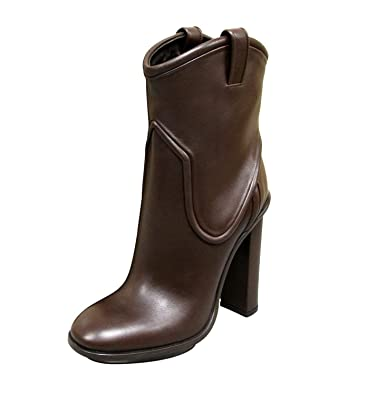 9d56fc681 Gucci Women's Brown Leather Ankle Platform Runway Boots 270515 (37 G / 7 ...