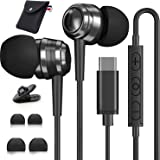 USB C Headphones, USB C Earbuds, YUANBAI USB C Earphones Wired DAC Type C Earbuds & Noise Canceling in-Ear Headphones with Mi