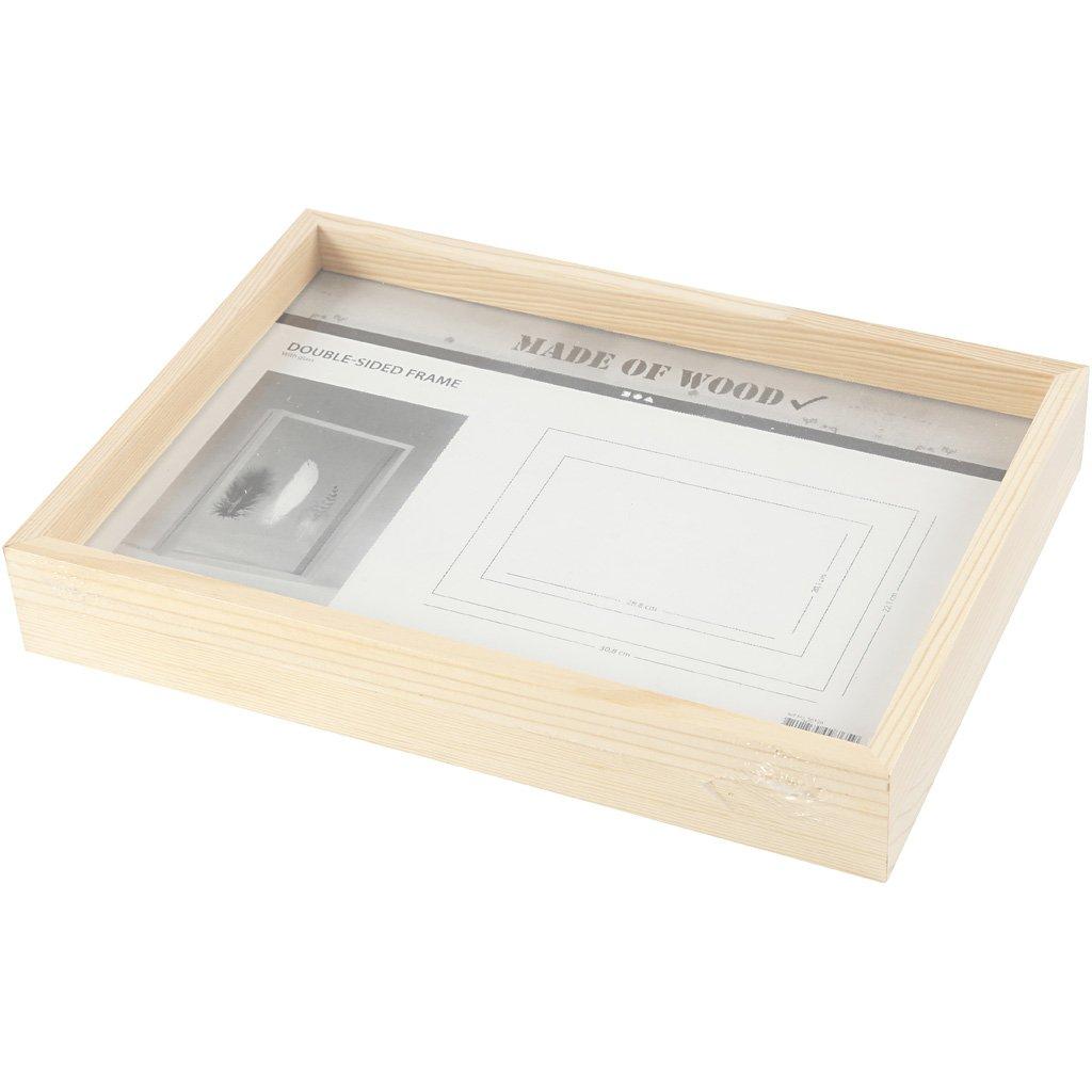 Amazon.de: Doppelseitiger Rahmen, A4, Größe 22, 1x30, 8 cm, Tiefe 4 ...