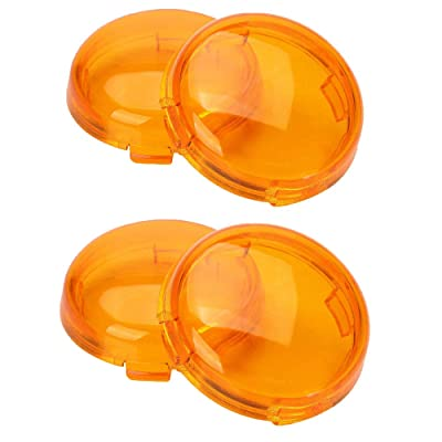 ZYTC Amber Harley Turn Signal Lens Covers Lenses for Harley-Davidson Pack of 4: Automotive