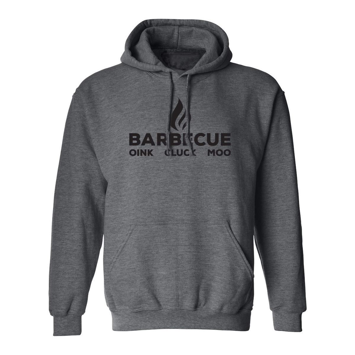zerogravitee Barbecue oink Cluck moo Adult Hooded Sweatshirt