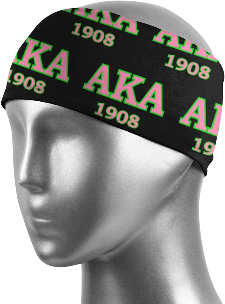 Pafkasdaj Alpha Kappa Alpha Sweatbands Sports Headband Wristband for Men Women