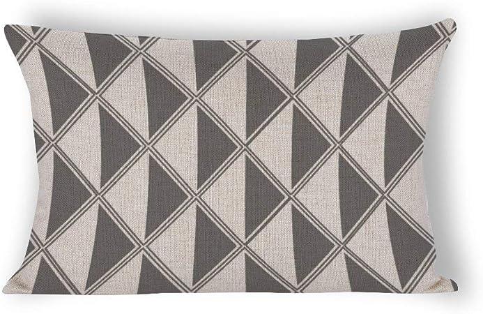 Abstract Geometric Linen Throw Pillow Cases Sofa Waist Cushion Cover Home Decor