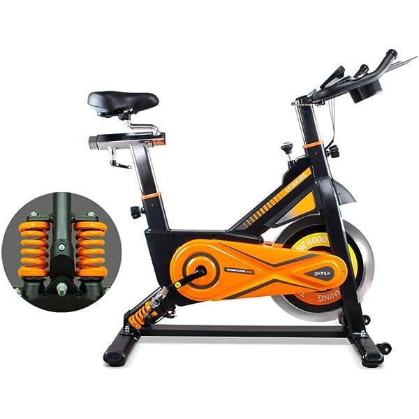 gridinlux. Trainer Alpine 8500. Bicicleta Spinning Pro Indoor. Volante de Inercia 25 kg, Nivel Avanzado, Sistema de Absorción de Impactos, Pantalla LCD, Fitness: Amazon.es: Deportes y aire libre
