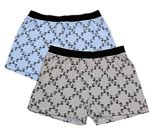 Dot Boxer Shorts (Men's 2pc Boxer Shorts Combo Set (Medium))