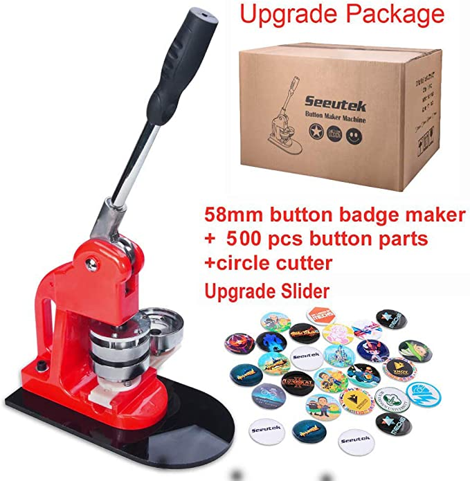 "58mm 2.28/"" Button Maker Badge Punch Press Machine 500pcs Parts Circle Cutter US"