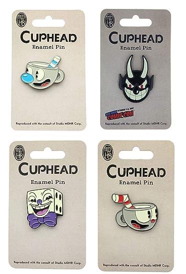 Cuphead Enamel Pin 4-Pack Set: Cuphead, Mugman, King Dice, Devil (NYCC'17  EXCL)