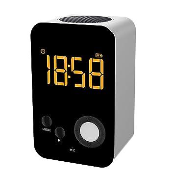 TBY Altavoz Bluetooth Inalámbrico Conveniente Reloj Despertador Sonido LED Pantalla Reloj Celular Teléfono Equipo Estéreo Subwoofer