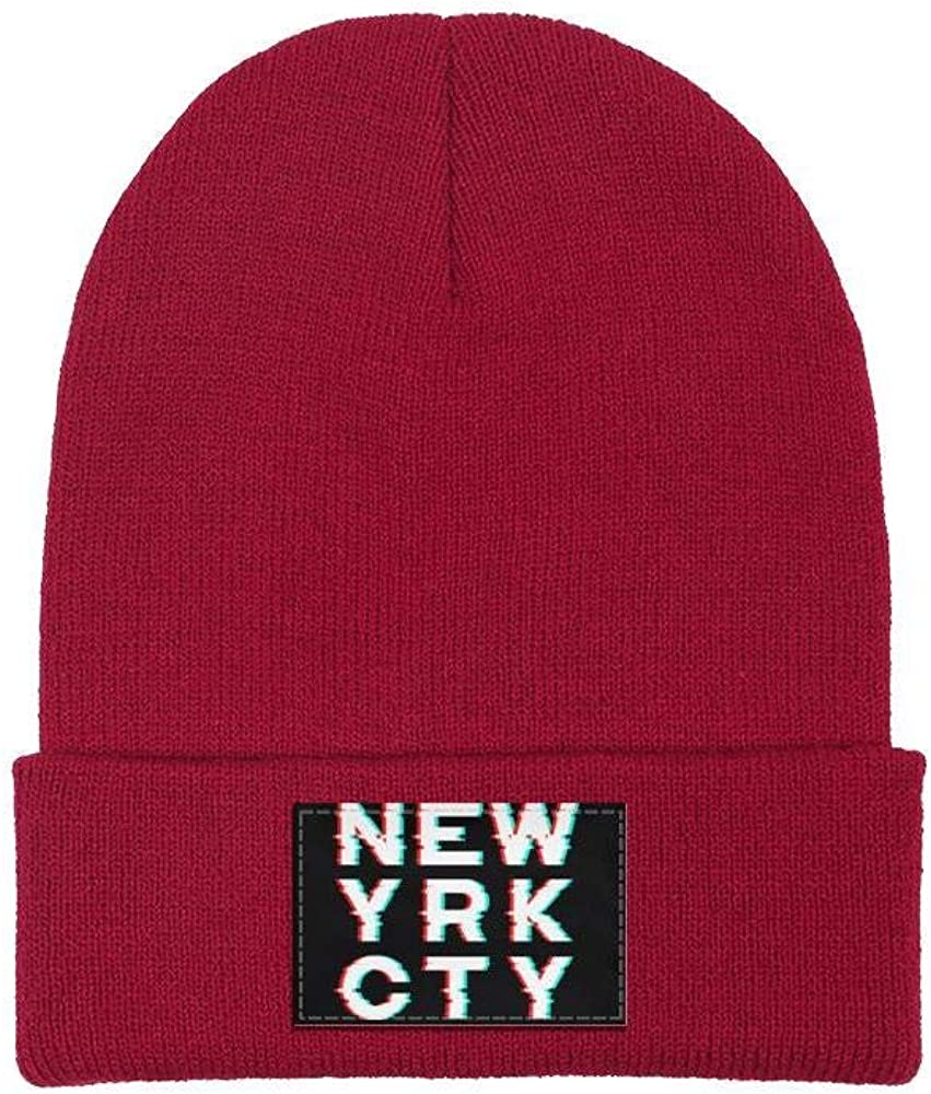 Men Slouchy Beanie Hat Toboggan Hats New York City Art Decor Multifunction Cap