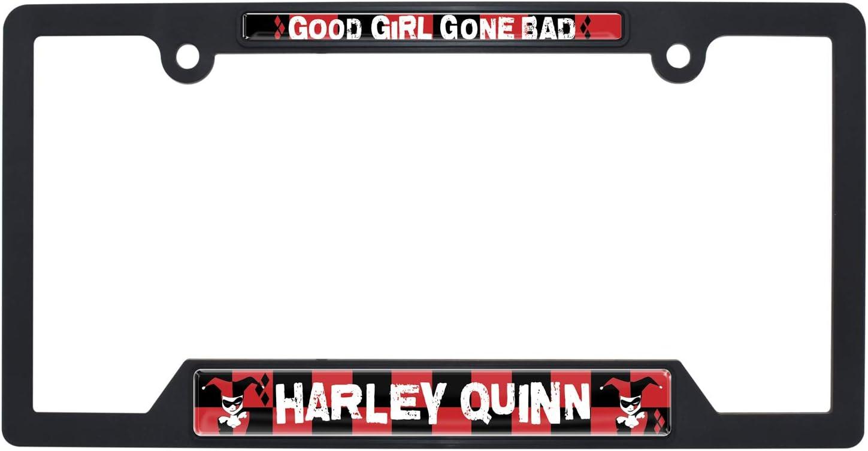 Elektroplate Harley Quinn Black Plastic Open License Plate Frame