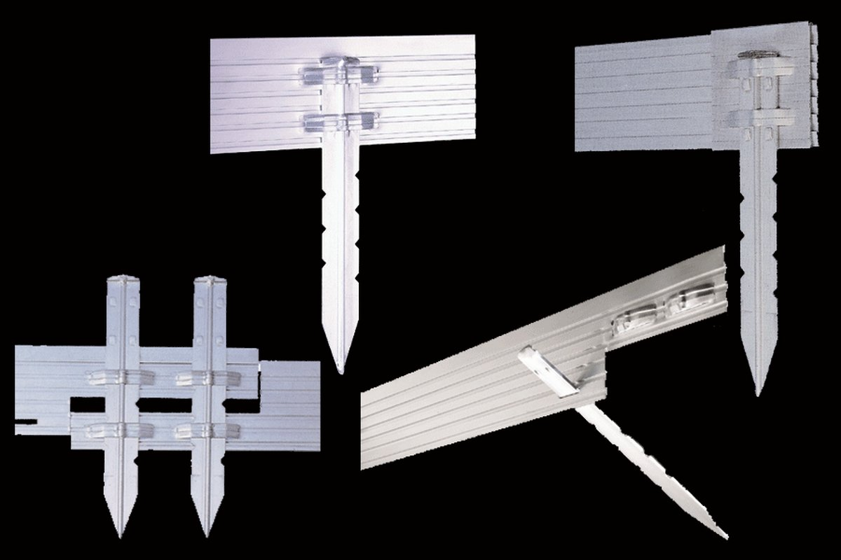 PRO Aluminum Landscape Edging - 1/8'' X 4'' X 8' (120' per box) - Mill Finish by Sure-Loc (Image #5)