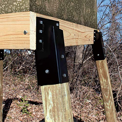 Mofeez Outdoor 4x4 Compound Angle Elevator Brackets For Deer Stand
