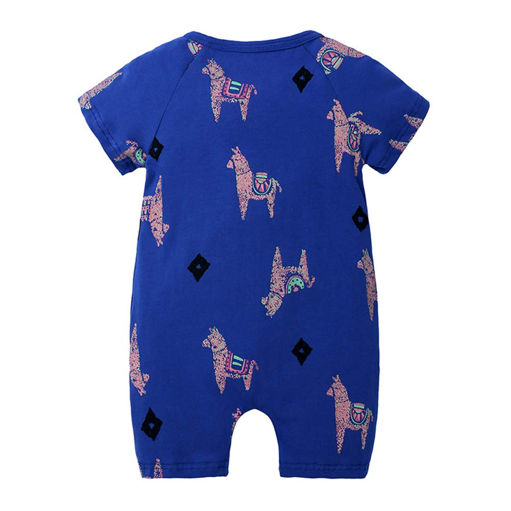 LittleSpring Infant Toddler Baby Boys Short Sleeve Jumpsuit Zipper One-Piece Rompers 1-3T