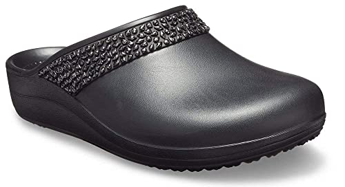 low priced 8e89c 42be4 crocs Damen Sloane Diamante W Clogs, Schwarz: Amazon.de ...