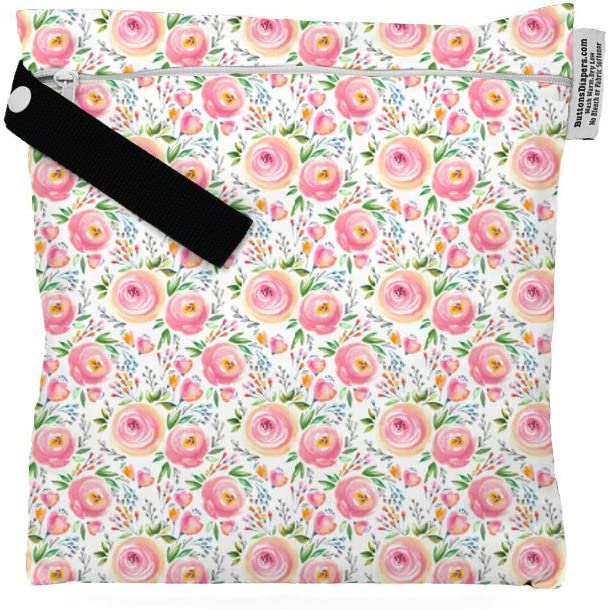 Buttons Cloth Diapers Waterproof Washable Reusable Zippered Laundry Wet Bag Small, Anchored