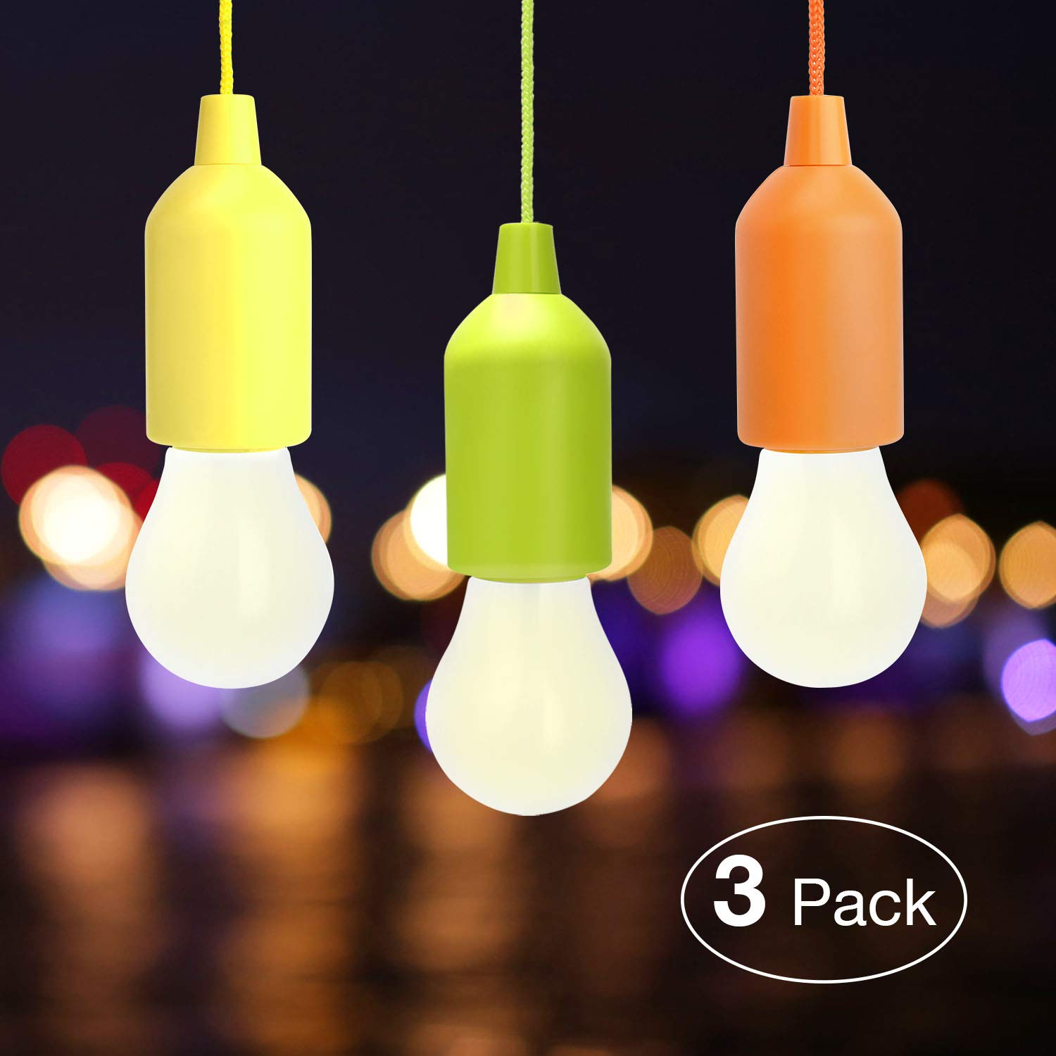 LED Camping Lamp, Light Bulb, Decorative Light, Bright Camping Light for Camping Hiking Night Fishing Emergency Light, Garden, Camping, Party, Wardrobe, BBQ or Decorative Lamp, Outdoor or Indoor WEBSUN