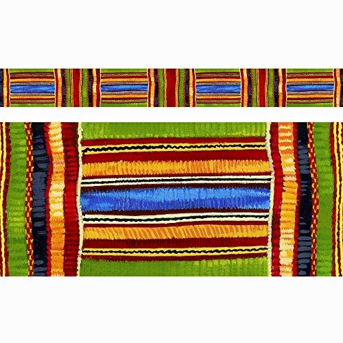 TREND enterprises, Inc. T-85092BN Kente Cloth Bolder Borders, 35.75' Per Pack, 6 Packs ()