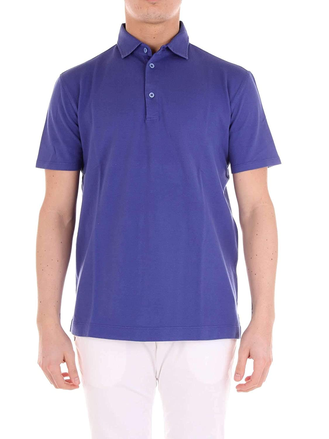 factory authentic f5ac6 cb1f3 CRUCIANI Men's Cujkpc304j Purple Cotton Polo Shirt at Amazon ...