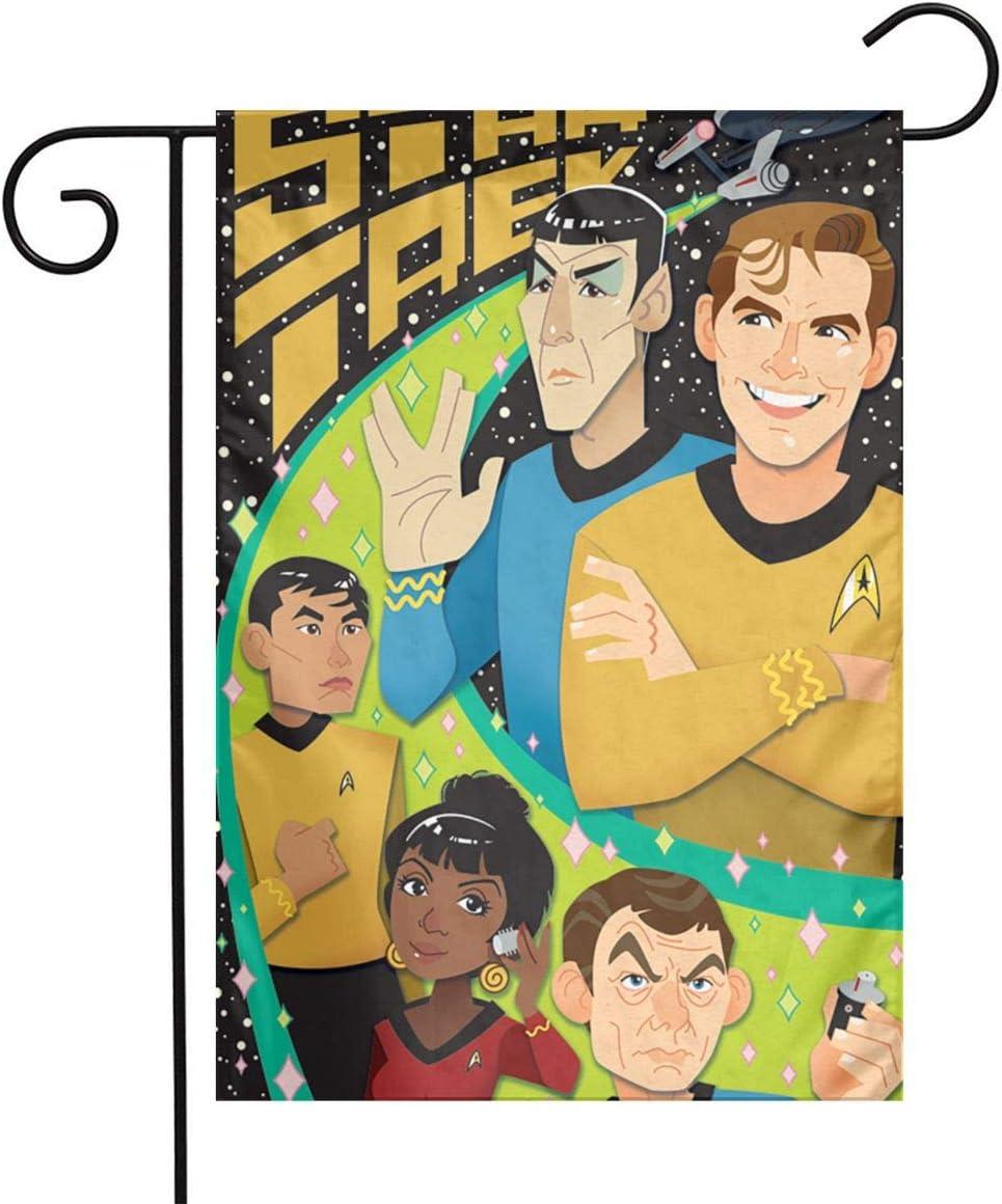 Lhdesign Star Trek Garden Flag,Home Rustic Garden Yard Decorations,Seasonal Outdoor Flag 12 X 18inches