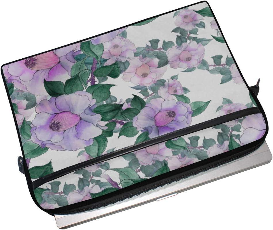 College Students Business People Offic Laptop Bag Camellia Flowers On White 15-15.4 Inch Laptop Case Briefcase Messenger Shoulder Bag for Men Women