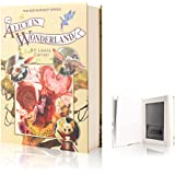 EIOUMAX Real Pages Diversion Book Safe with Combination Lock,Hollowed Out Book Anti-Theft Safe -Alice in Wonderland(Full Size