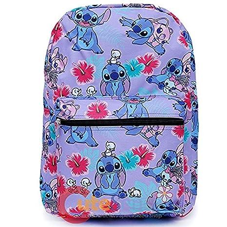 Lilo & Stitch Mochila Disney Morado Bolsa Escolar 100254