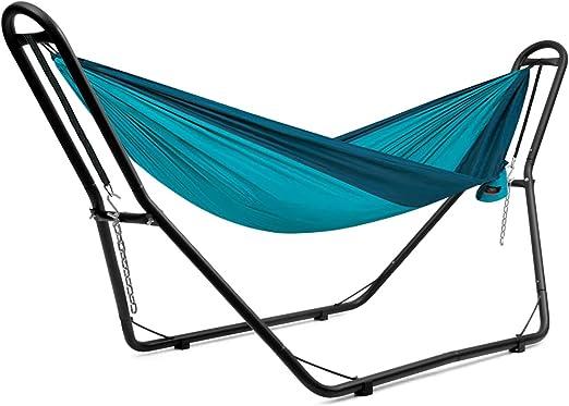 COSTWAY Soporte para Hamaca de Metal para Hamaca de 3, 5 m a 4 m Carga hasta 200kg para Patio Jardín Terraza Playa Camping (Solo Soporte, Sin Hamaca): Amazon.es: Jardín