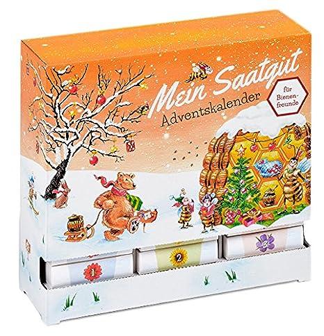 Lieblich Saatgut Adventskalender U0026quot;Bienen Freundu0026quot;   24  Schachteln/Schubladen ...