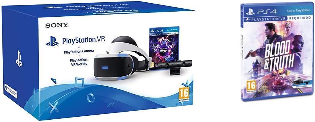 Sony - PlayStation VR Casco De Realidad Virtual Mk4/SPA + VR Worlds + Cámara (PS4) + Blood and Truth: Amazon.es: Videojuegos