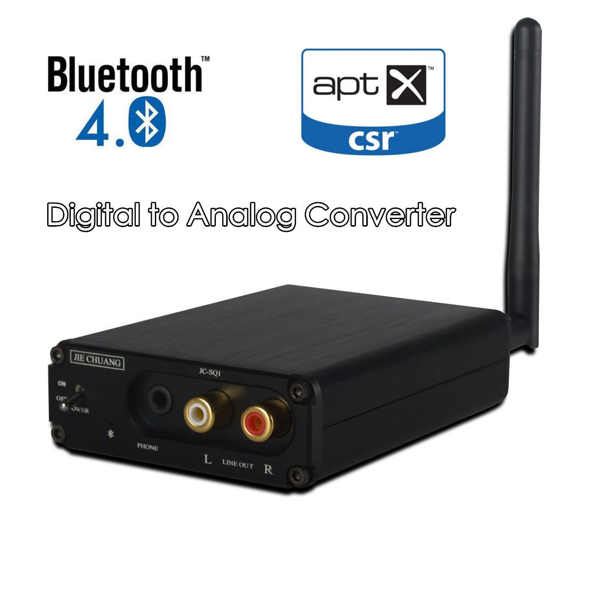 Nobsound HiFi Bluetooth 4.0 Audio Receiver DAC Digital to Analog Converter OPT COAX APT-X