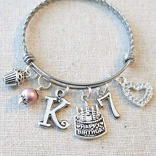 Image Unavailable Not Available For Color 7th BIRTHDAY GIRL Birthday Charm Bracelet 7 Year Old Daughter Gift Idea