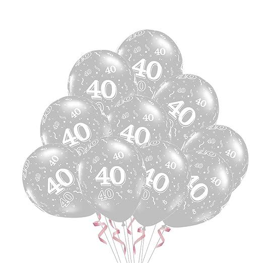 Amosfun 50 Piezas 40 Globos de látex 40 años de Globos de ...
