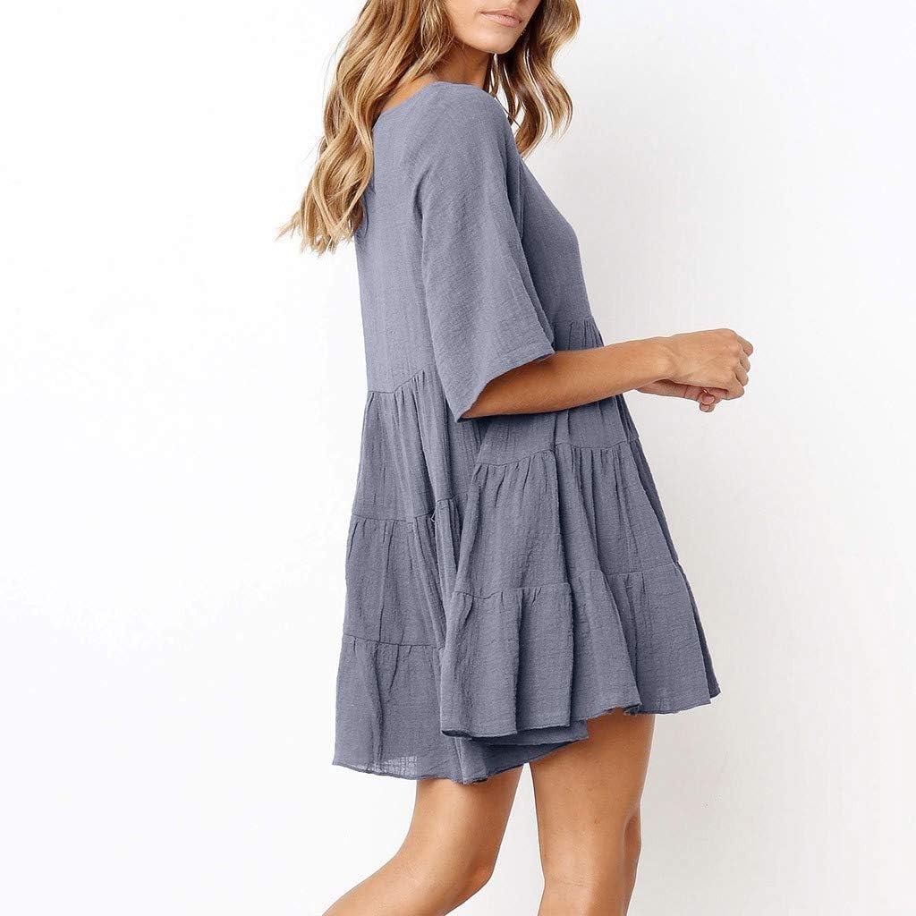 FORH Outfits Womens Blouse 2 Pieces Women Dot Print Off Shoulder Mini I Dress Pullover Tops Blouse Dress Set