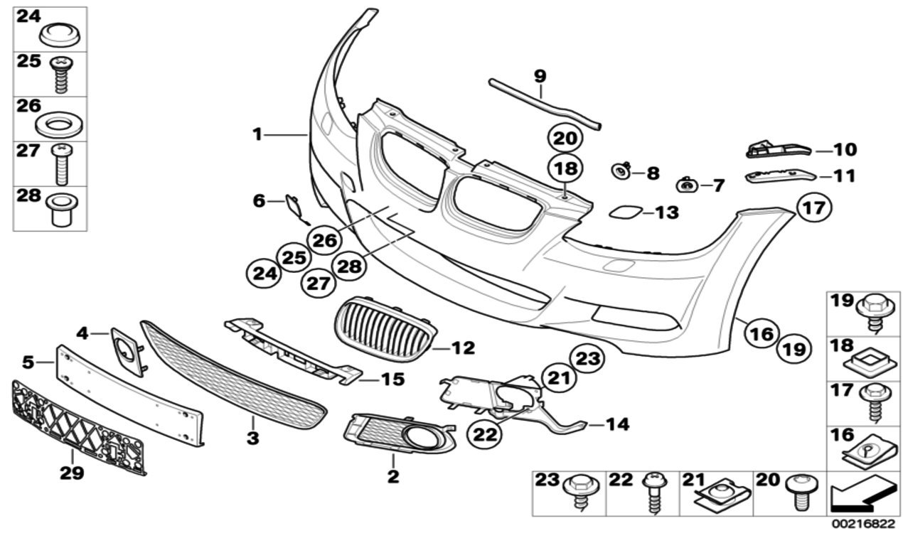 Bmw Genuine M Sport Headlight Washer Cover Right E92 E93 3 Series 2008 328i Engine Bay Diagram 61677171660 Car Motorbike