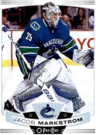 Amazon Com 2019 20 O Pee Chee 387 Jacob Markstrom Vancouver Canucks Nhl Hockey Trading Card Collectibles Fine Art