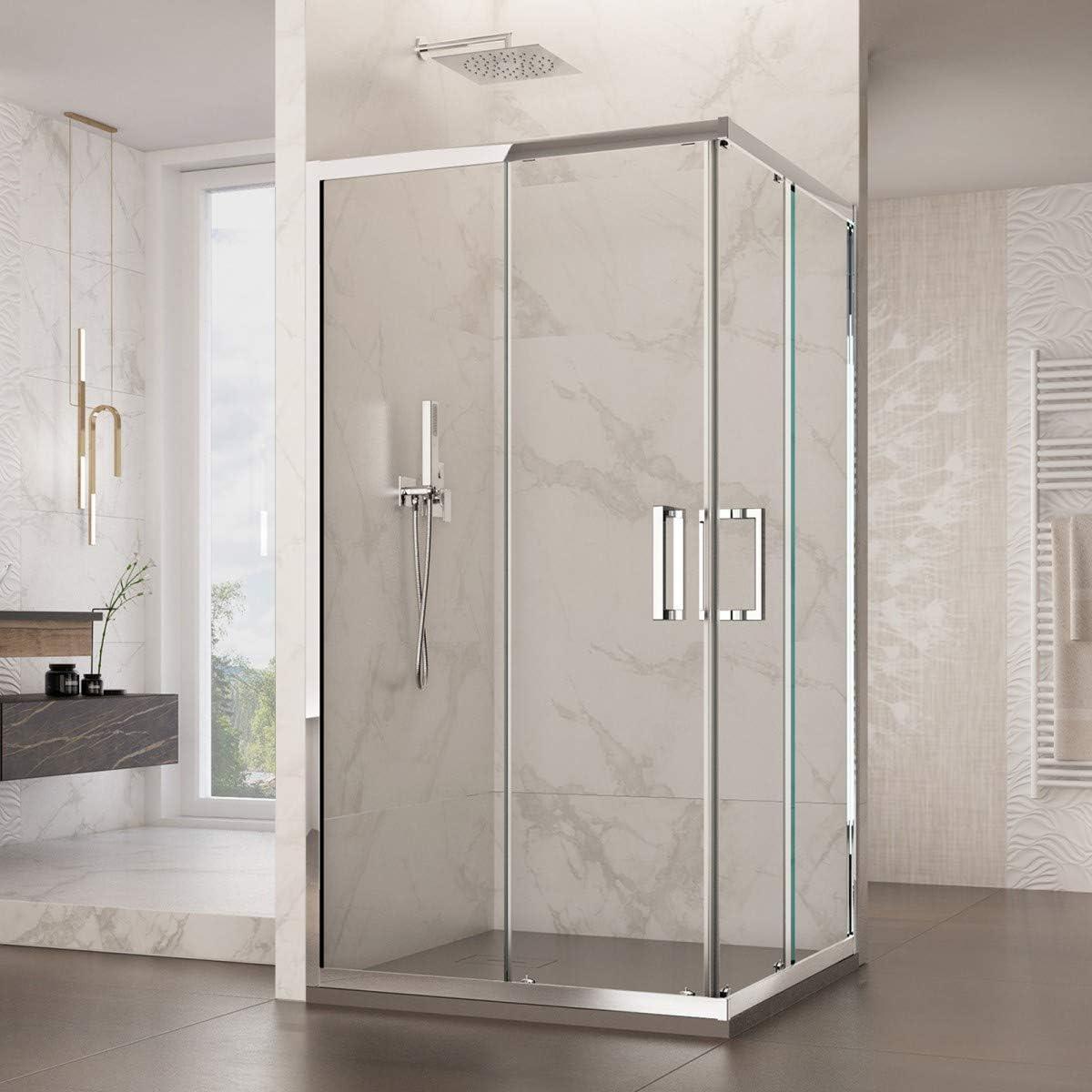 Olimpo duchas adr-tr-75 X 100 ducha con asas inoxidable angular ...