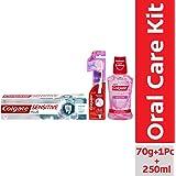 Colgate Sensitivity Combo (Sensitive Plus Toothpaste-70g, Colgate Slim Soft Sensitive Toothbrush, Plax Gentle Care Mouthwash-250 ml)