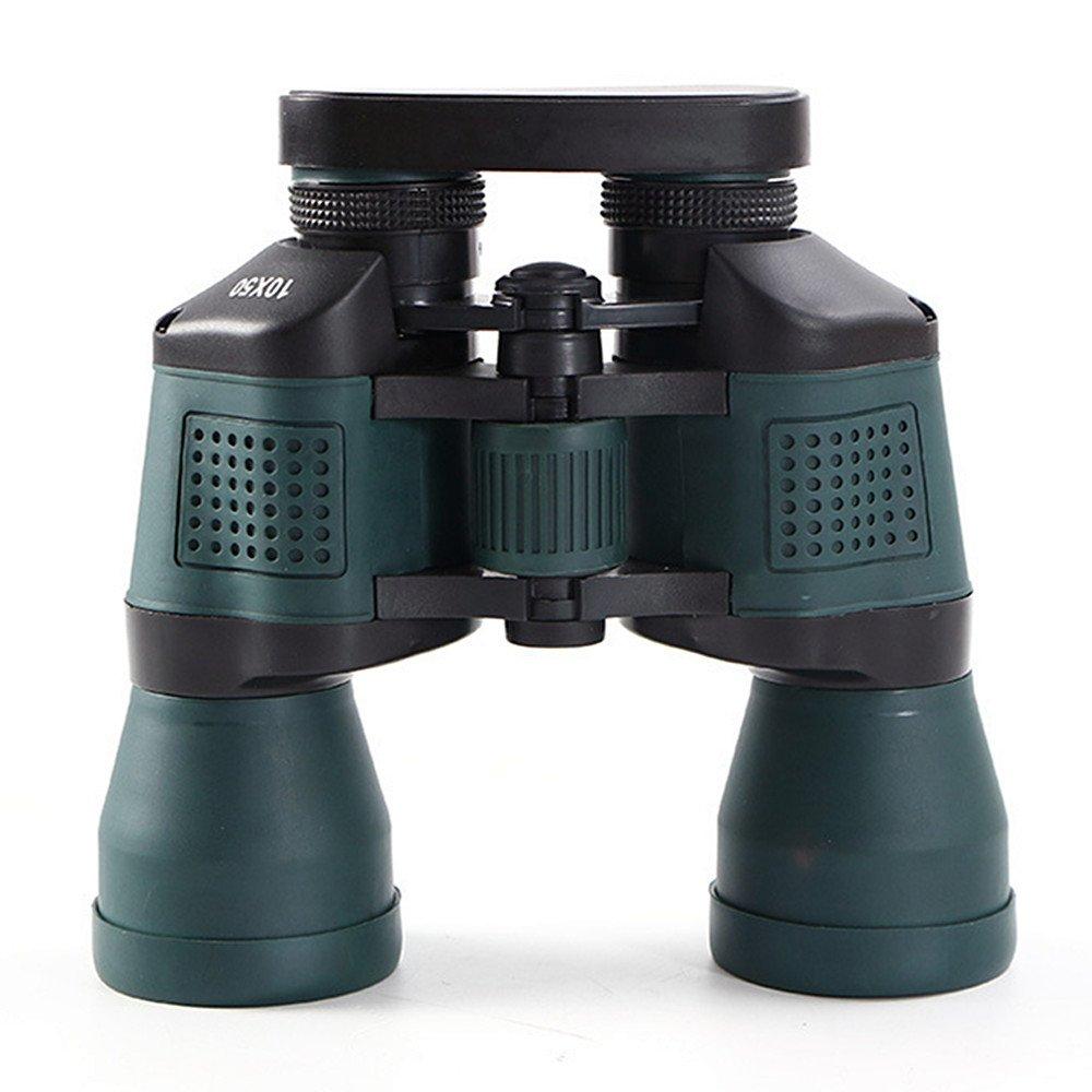 zxcvlina双眼鏡10 × 50 HDポータブル多層コーティング低ライトナイトビジョンバードウォッチング双眼鏡の屋外使用   B07F9X1Z65